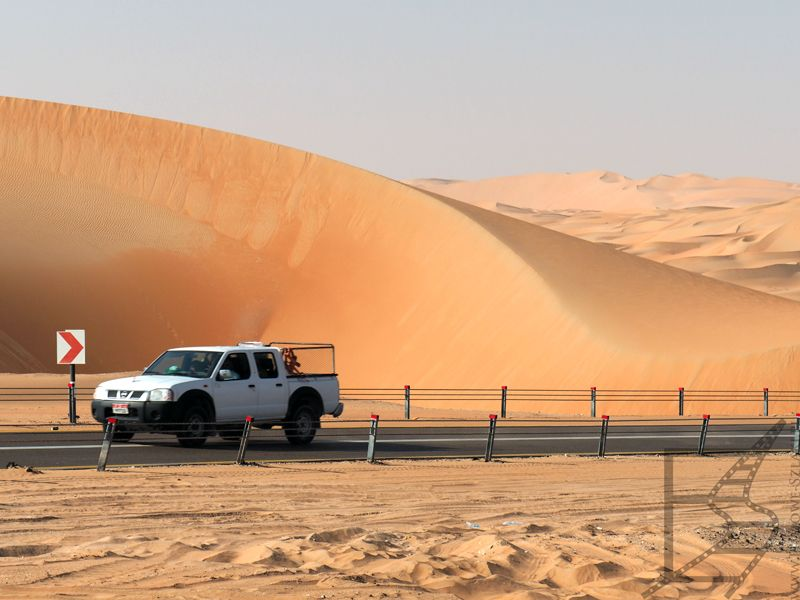 Droga między piaskami