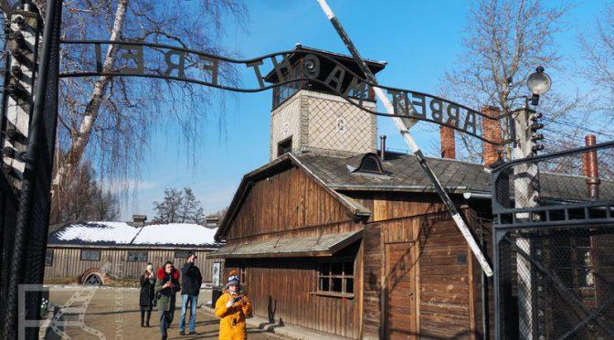 Arbeit Machts Frei w Auschwitz