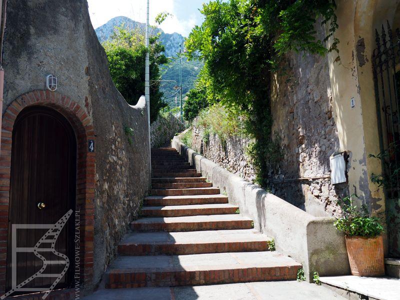 Schody między Marina Grande a Capri i Anacapri