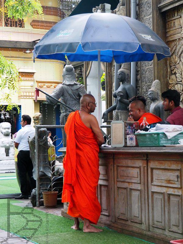 Mnich buddyjski w Gangaramaya