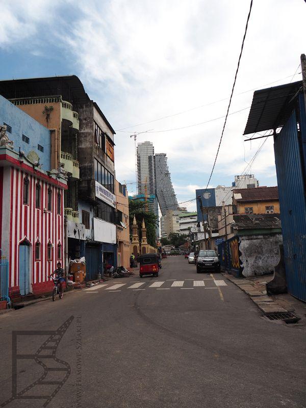 Boczne uliczki Kolombo