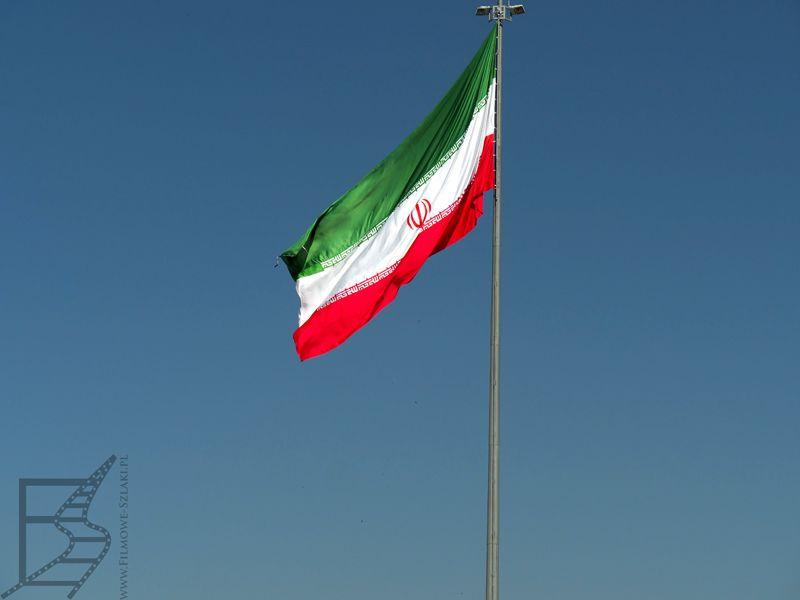 Flaga Iranu (Hamadan, Iran)