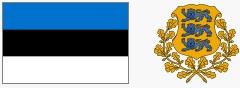 Flaga i godło Estonii (za wikipedia.org)