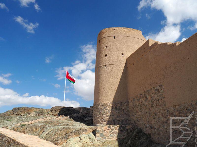 Flaga Omanu w forcie
