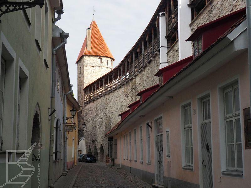 Tallinn: uliczka przy murze miejskim
