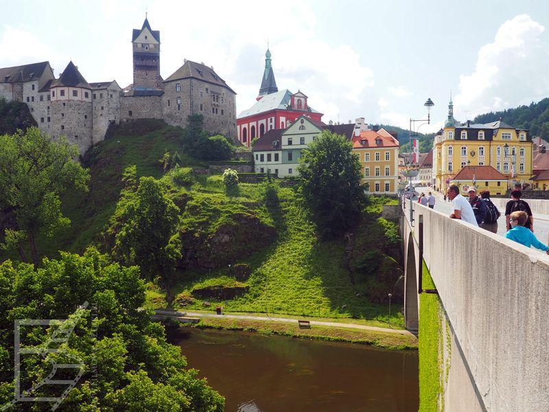 Zamek Loket i most na Ohrzy