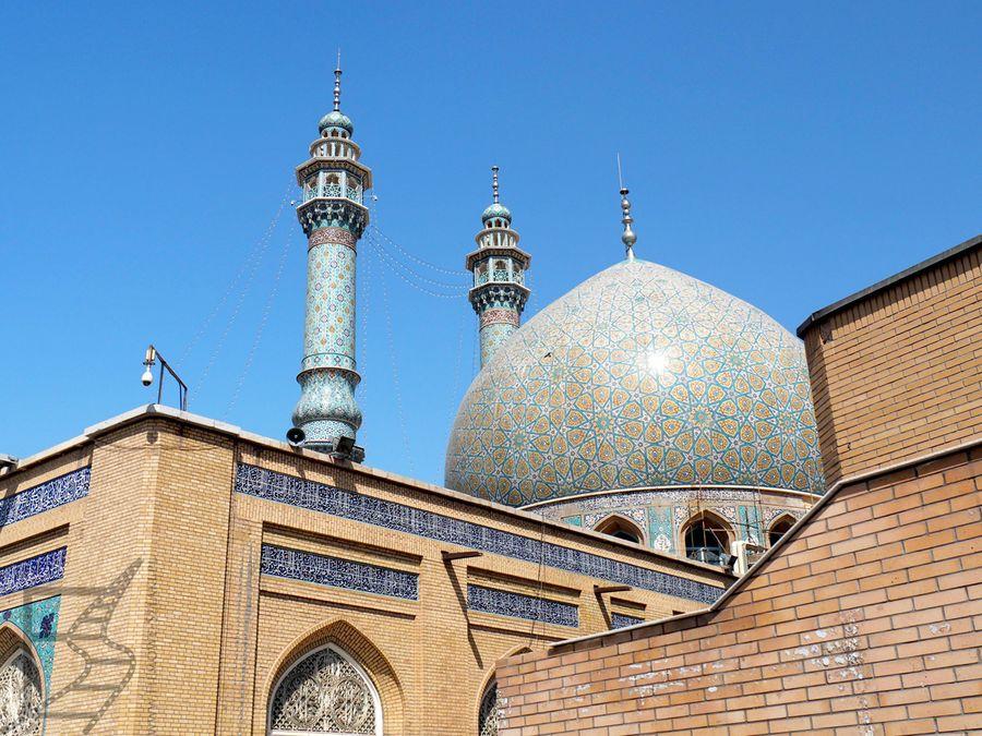 Charakterystyczne irańskie kopuły