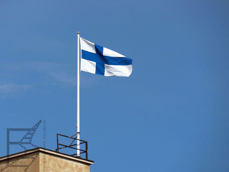 Finlandia, flaga w Helsinkach