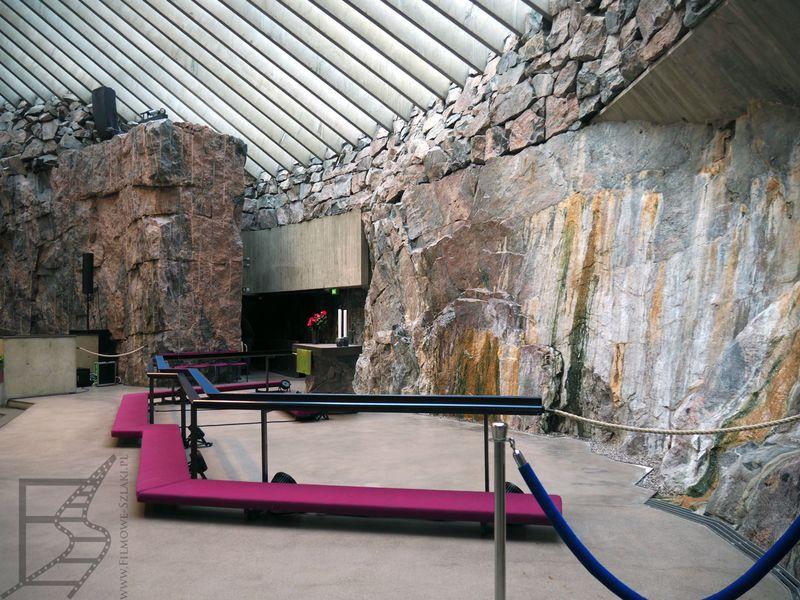 Wnętrza Kościoła Temppeliaukio (Helsinki)
