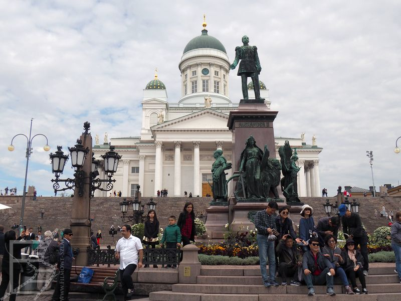 Helsinki, katedra i pomnik cara Aleksandra II