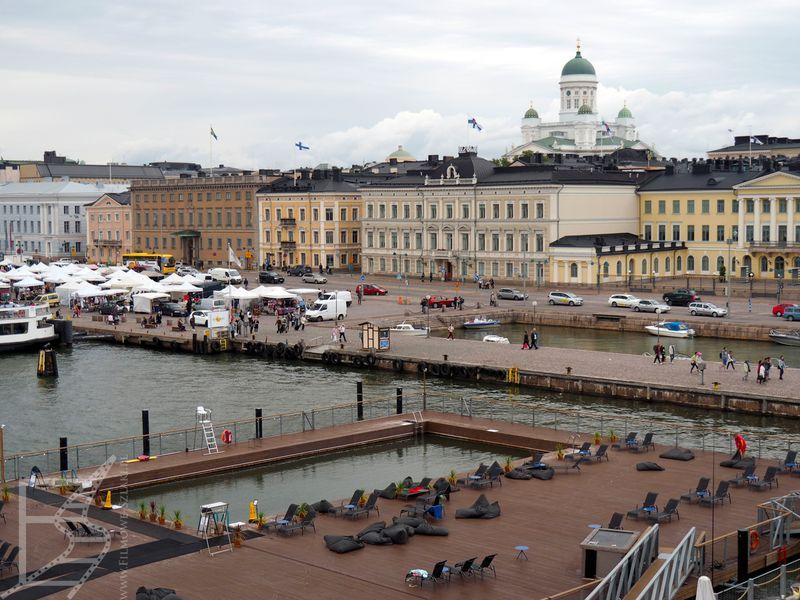 Okolice portu w Helsinkach