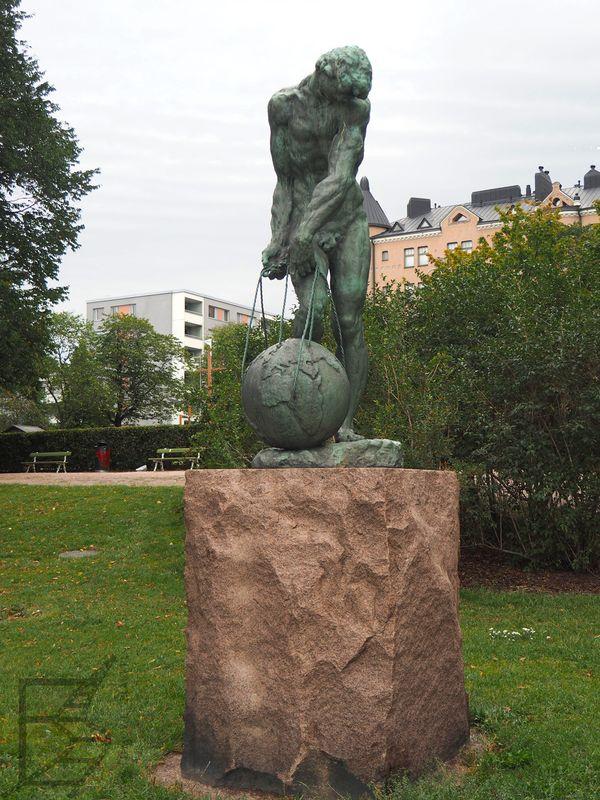 Pomnik mitycznego Atlasa