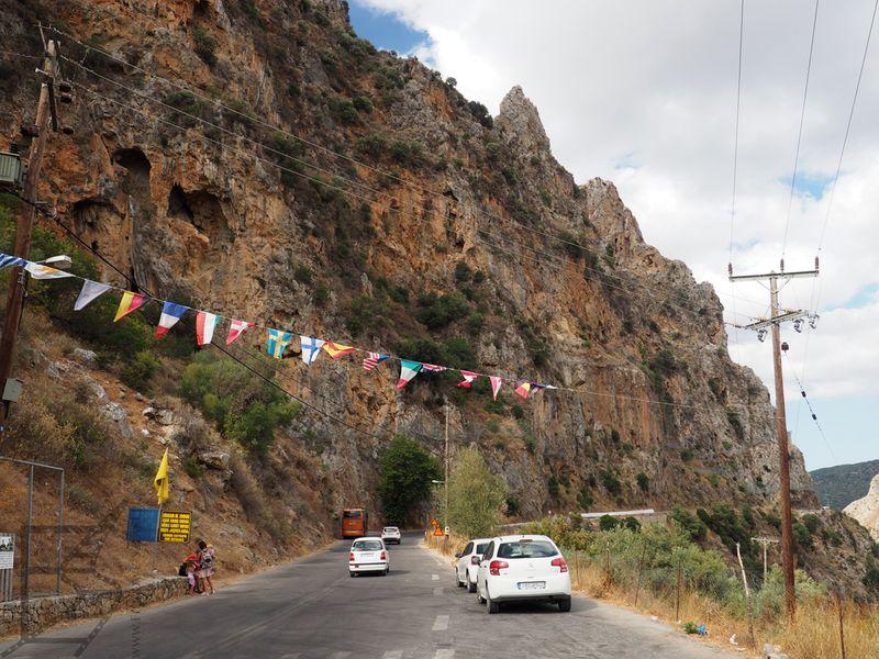 Droga przez wąwóz Topolia