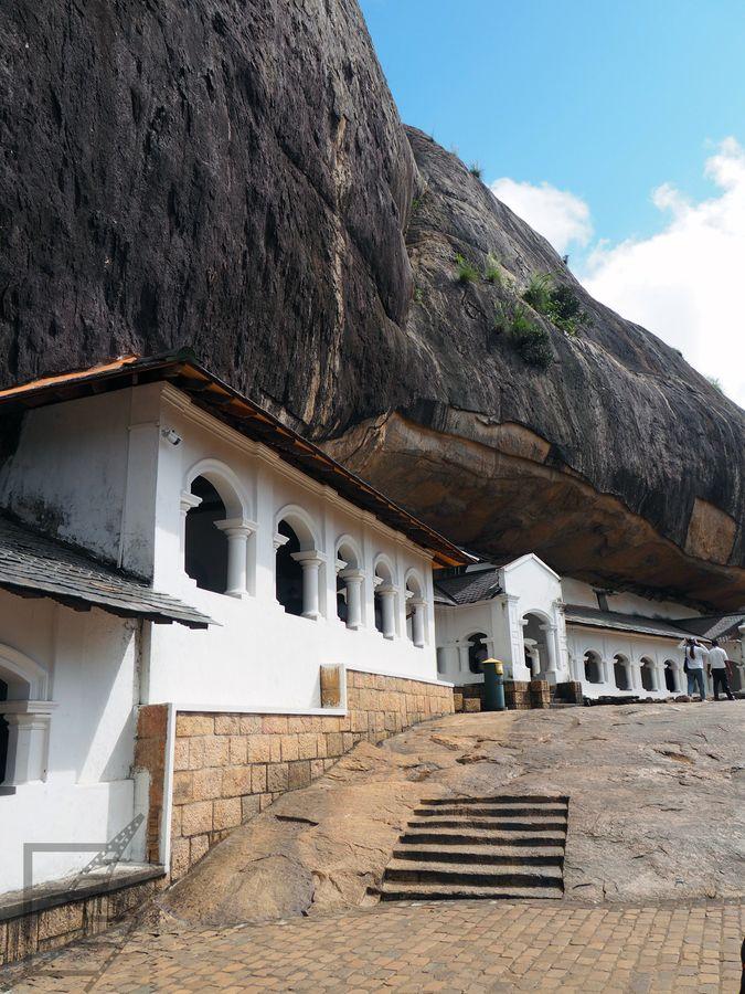 Wejście do grot w Dambulla