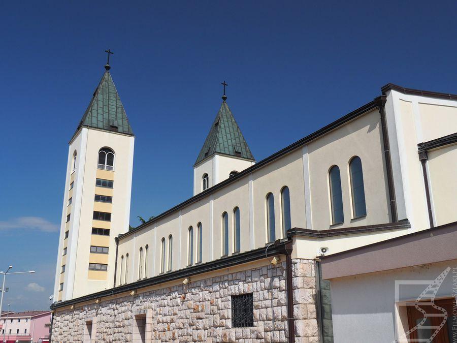 Kościół św. Jakuba w Letni ołtarz w Medziugorie