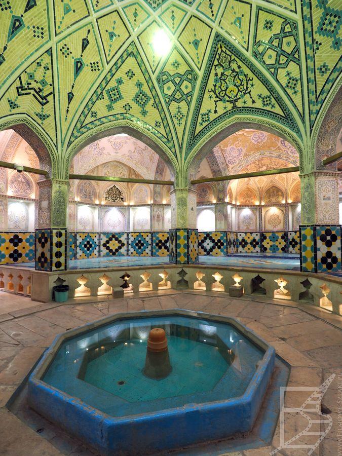 Wnętrze łaźni sułtana Amira Ahmada (Kaszan)