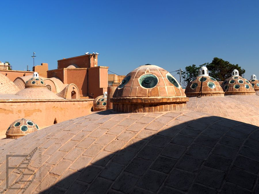 Dach łaźni sułtana Amira Ahmada (Kaszan)