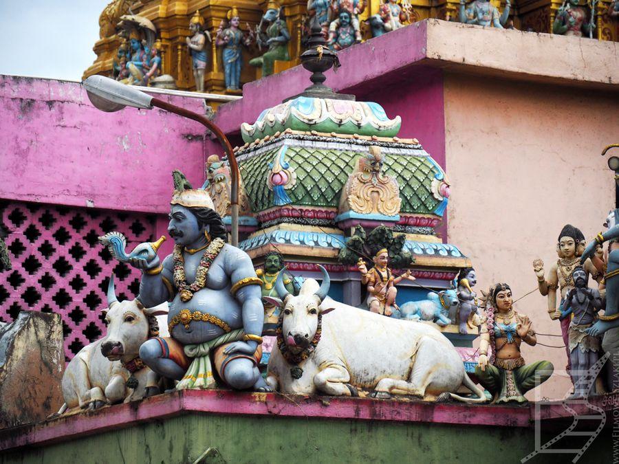 Ciekawe ozdoby świątyni hinduistycznej w Matale