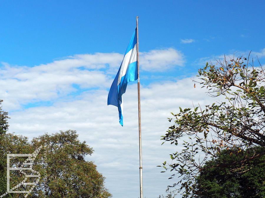 Flaga Argentyny (Iguazu, Argentyna)