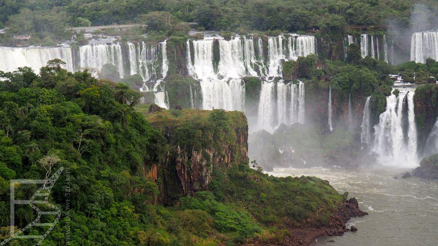 Wodospady Iguaçu - widok ze strony brazylijskiej