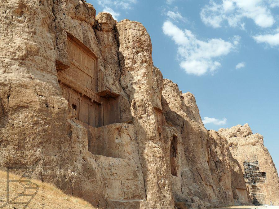 Widok na królewskie grobowce