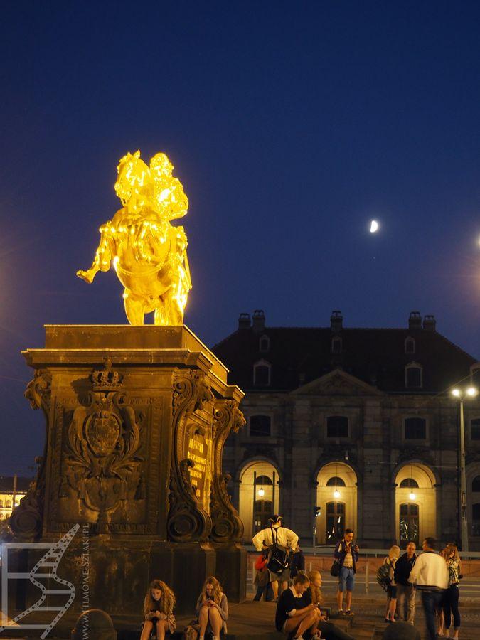 Złoty Jeździec (Goldener Reiter), czyli pomnik konny Augusta II Mocnego, króla Polski