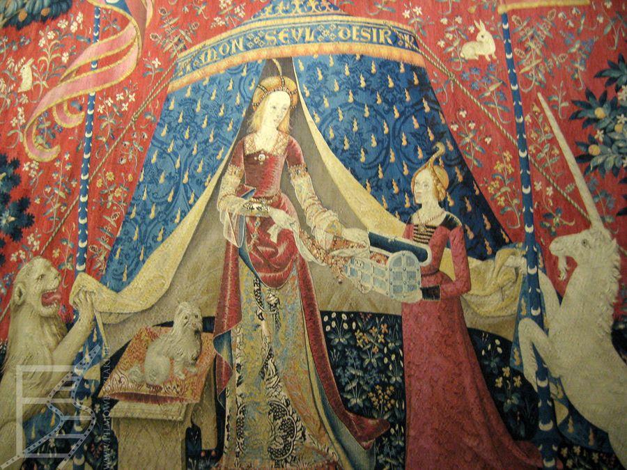 Gobelin w Muzeum Średniowiecza Cluny
