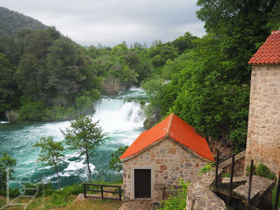 Pozostałości wioski w Parku Narodowym Krka