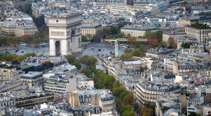 Widok na Łuk Tryumfalny, Paryż
