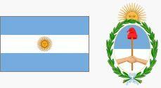 Godło i flaga Argentyny (za wikipedia.org)