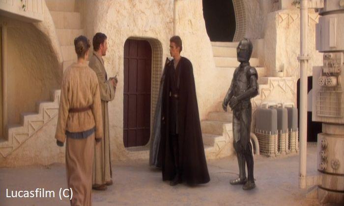 """""""Gwiezdne Wojny Część II Atak klonów"""" i ujęcie w Matmata (domostwo Larsów)"""