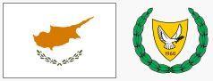 Flaga i herb Cypru (za wikipedia.org)
