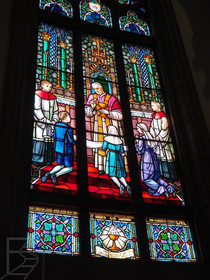 Witraż w katedrze