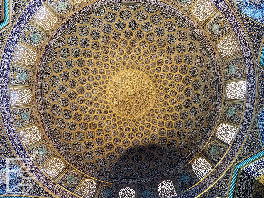 Zdobienie kopuły w Meczecie Szejka Lotfollaha (Isfahan)