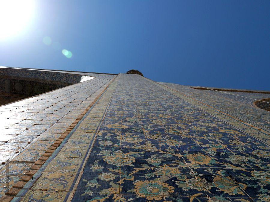 Ściany meczetu Szacha