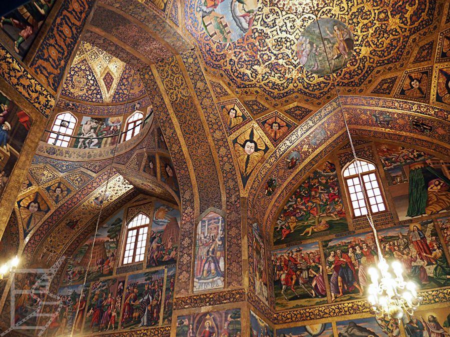 Wnętrze katedry ormiańskiej (Esfahan)