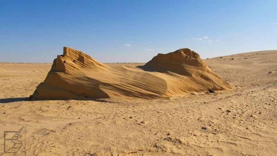Przy takich formacjach Qui-Gon walczył z Darthem Maulem (Chott el Gharsa)