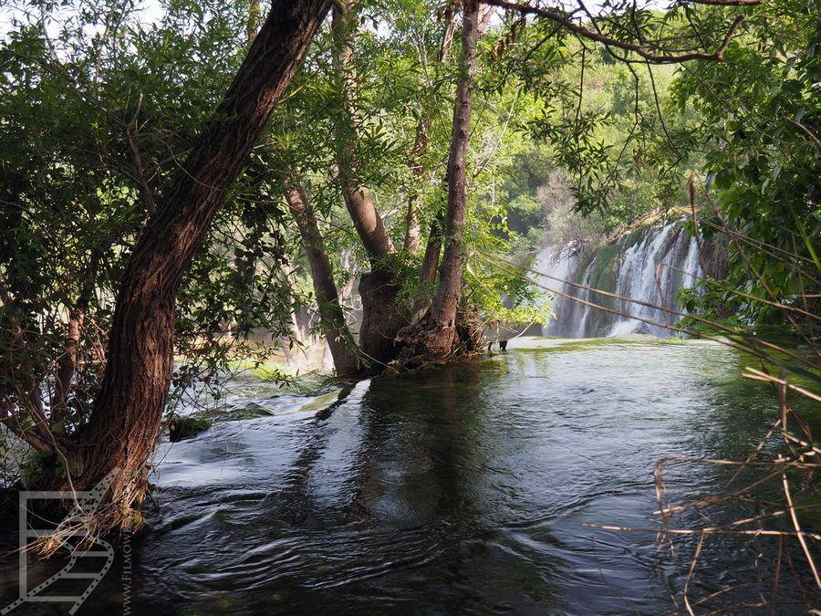 Wodospad widziany z góry