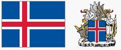 Godło i flaga Islandii (za wikipedia.org)