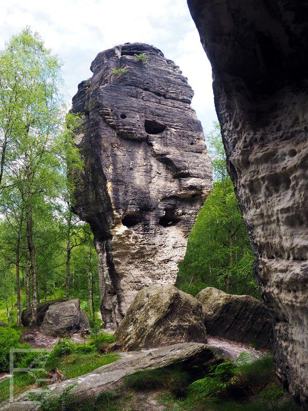 Przykład formacji skalnych w Tiskich Ścianach
