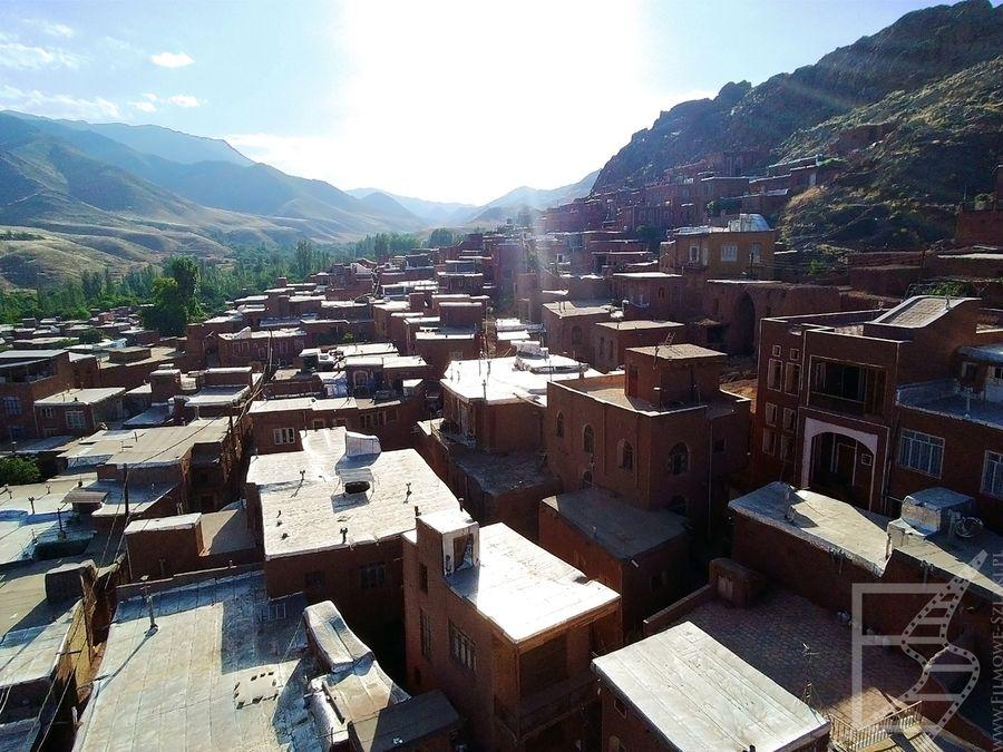 Wioska Abjane widziana z drona