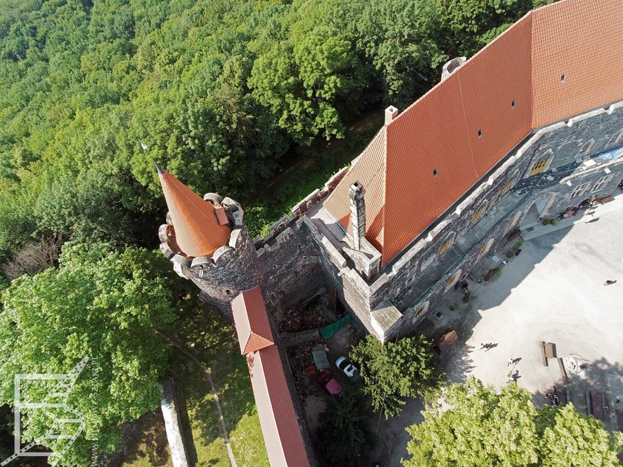 Zamek Grodziec z drona
