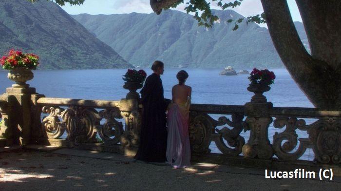 """""""Gwiezdne Wojny Cześć II Atak klonów"""" i Villa Del Balbianello (jezioro Como) jako Naboo"""