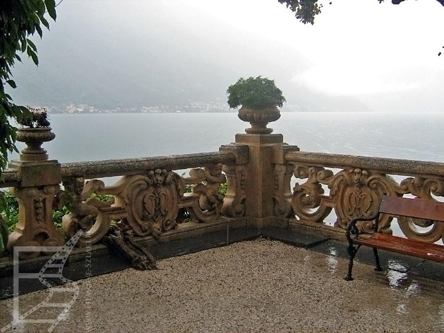 Villa Del Balbianello i widok na jezioro Como
