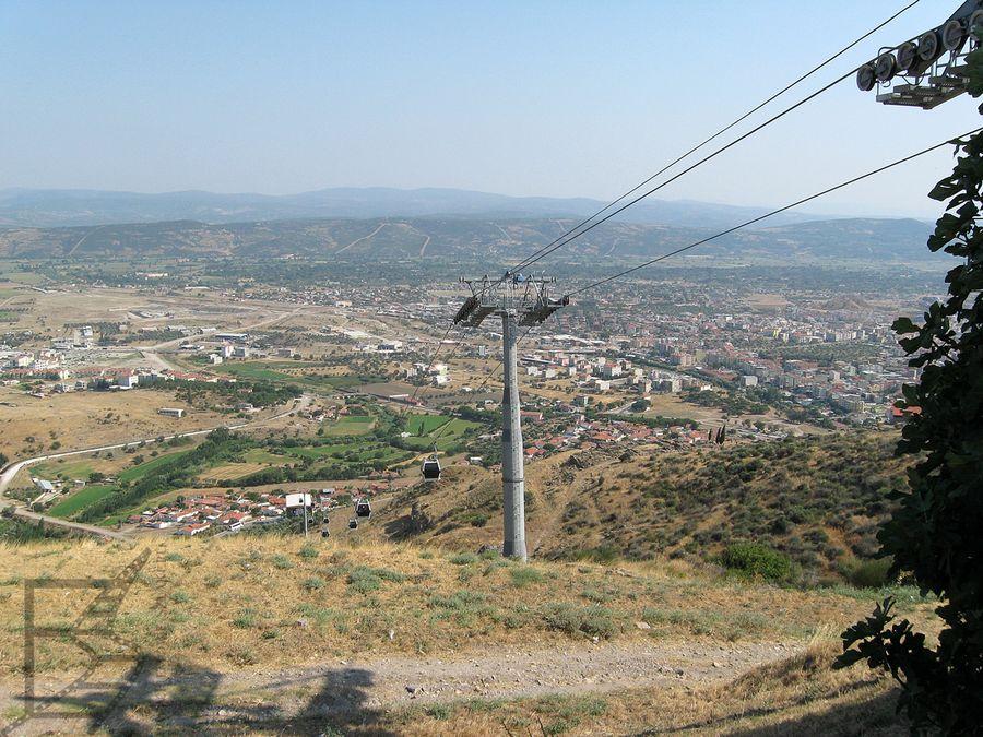 Kolejka linowa, wjazd do stanowiska archeologicznego Pergamonu