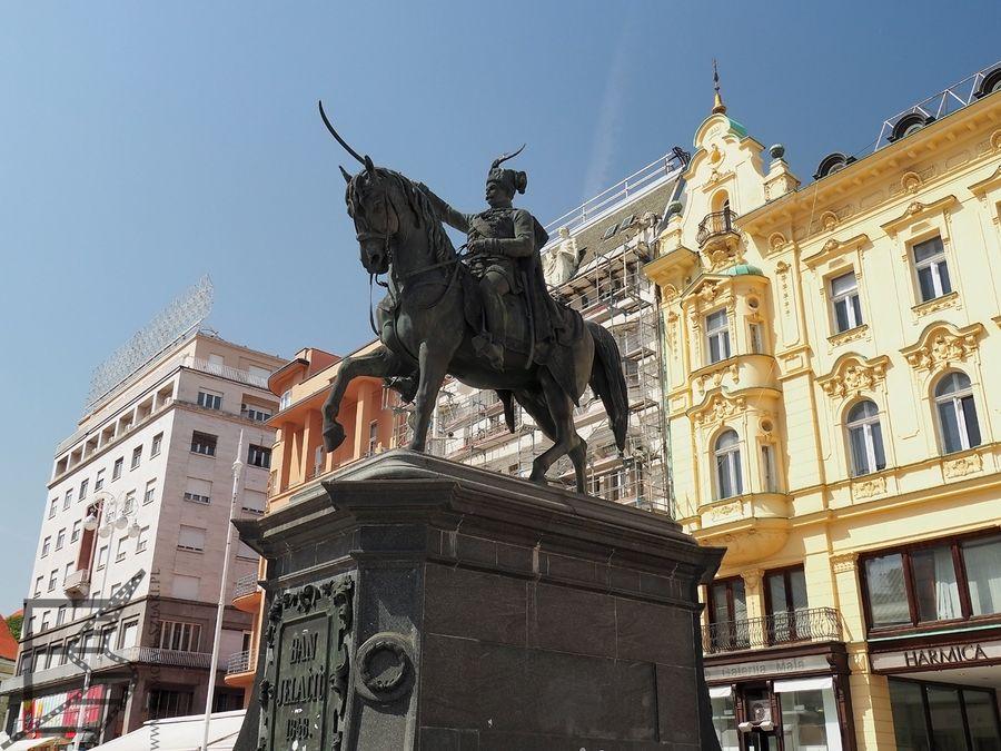 Plac - Trg bana Josipa Jelačića to współczesne centrum stolicy Chorwacji