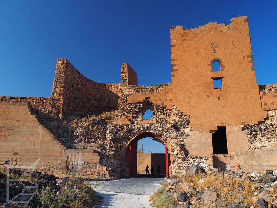 Pozostałości murów pochodzą z czasów Seldżuków