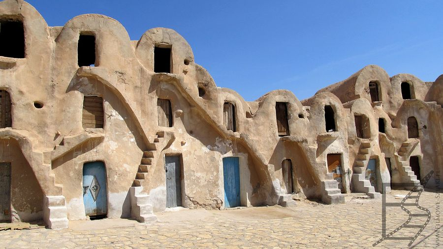 """Ksar został wykorzystany jako lokacja, Mos Espa na planecie Tatooine (""""Star Wars"""")"""