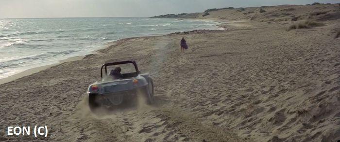 Na plaży Issos nagrywano między innymi scenę zabójstwa Kontessy.