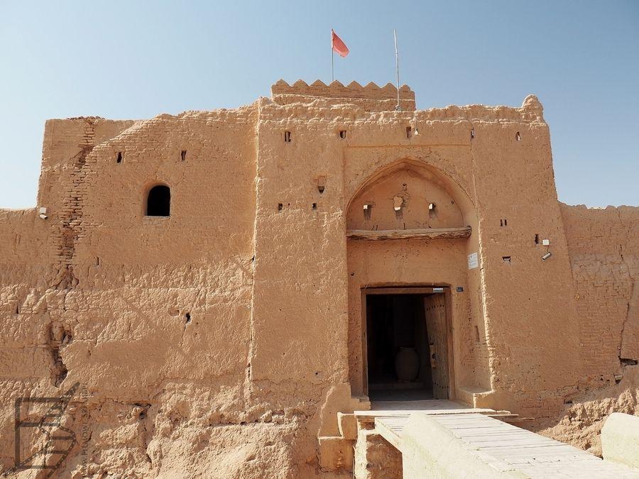 Główna brama zamku w Saryazd
